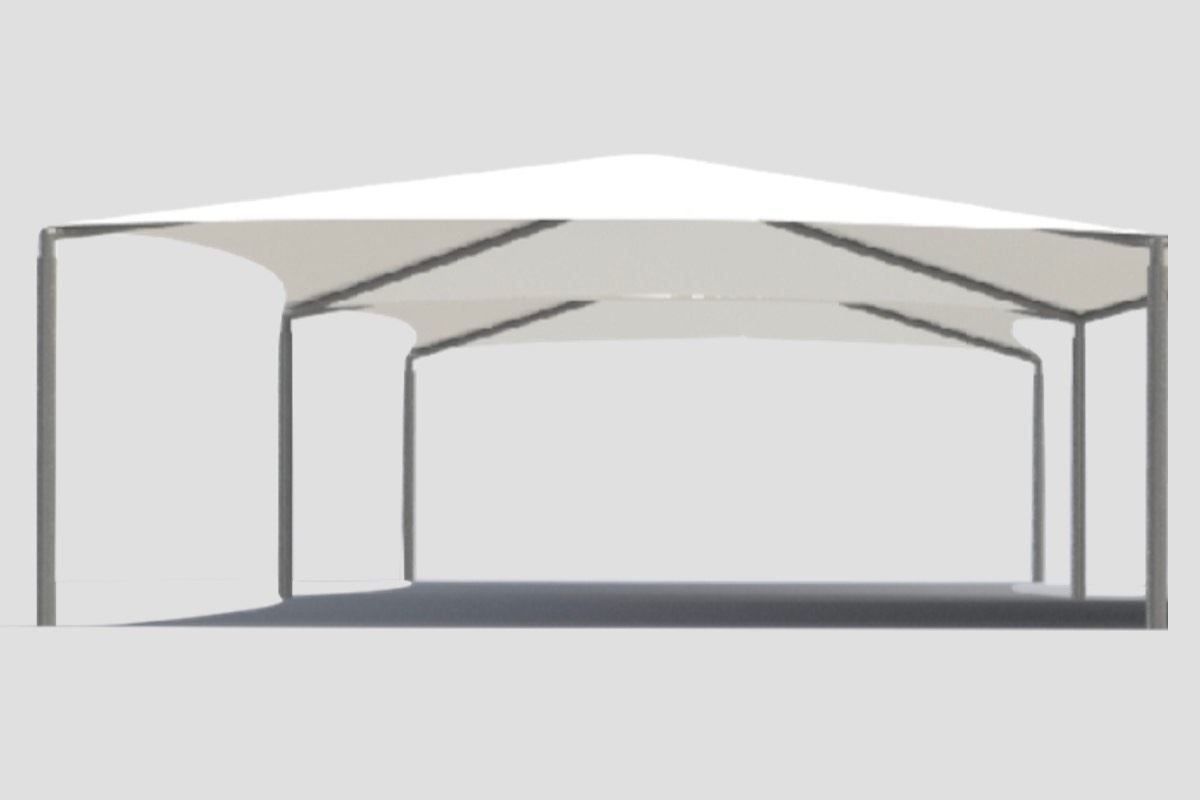 joined frame shade sail structure Adelaide SA Weathersafe