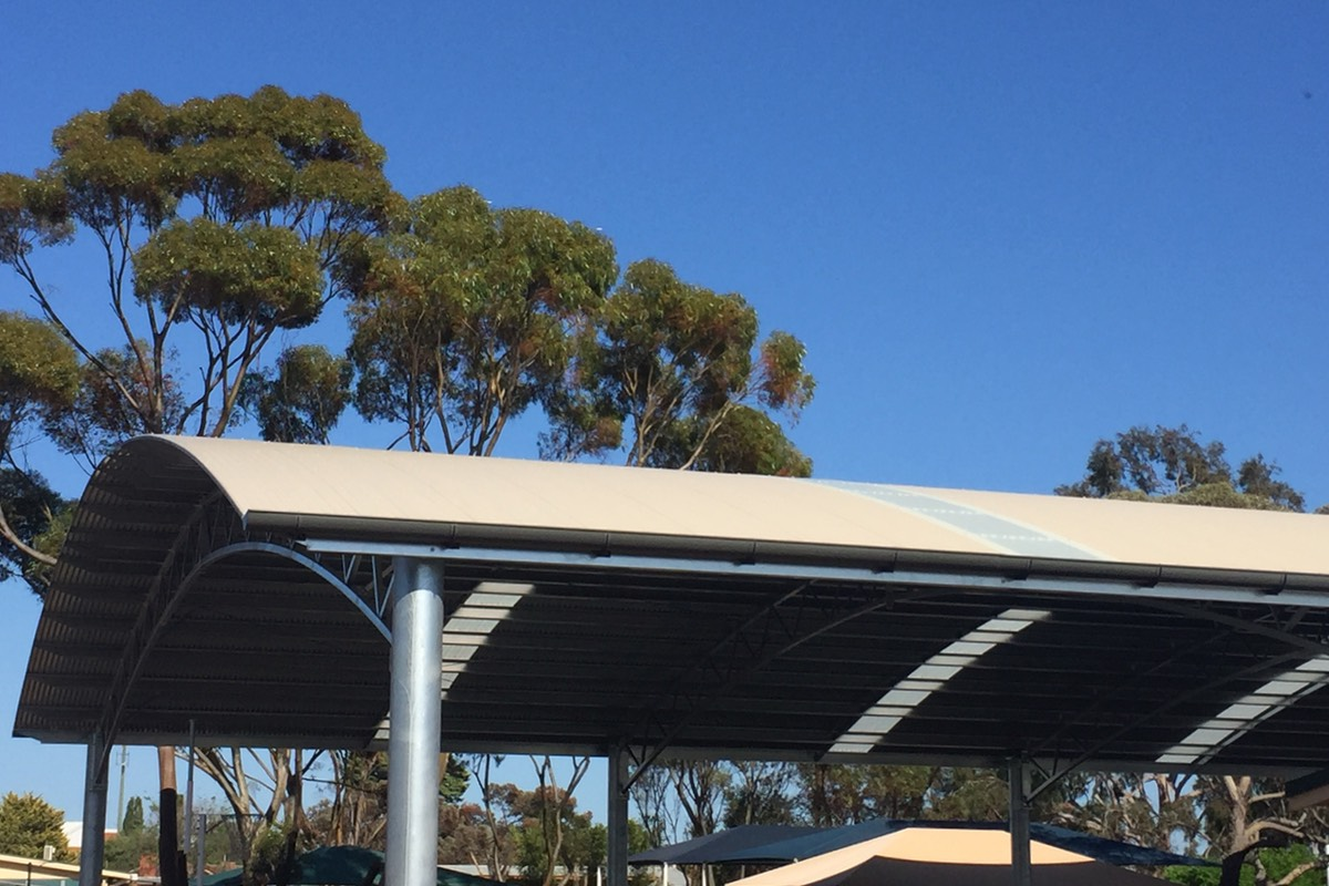 covered outdoor learning area shelter Elizabeth Vale Primary School SA City of Playford