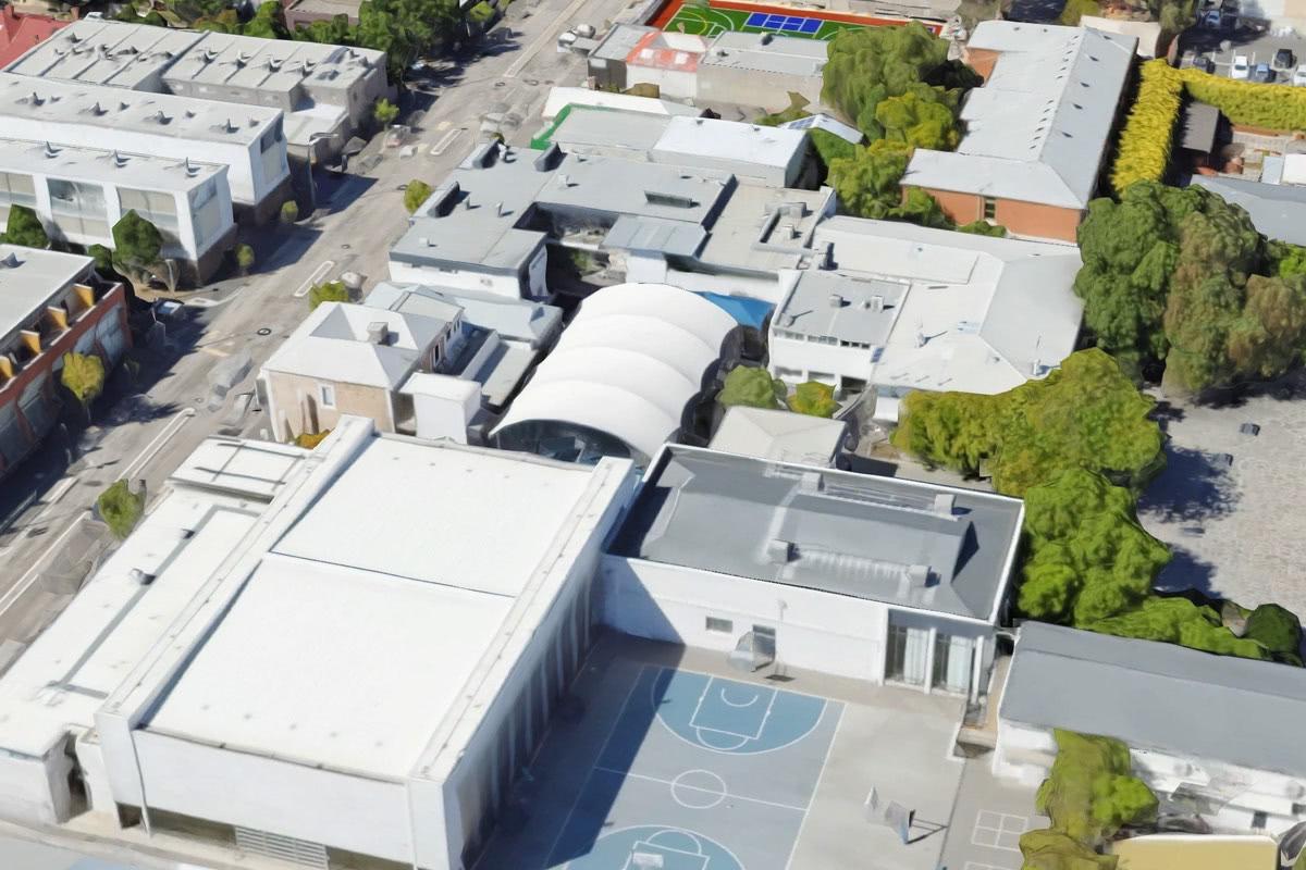Barrel vault shelter Pulteney Grammar School Adelaide SA