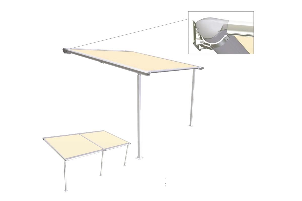vario pergola Helioscreen motorised awning motorised