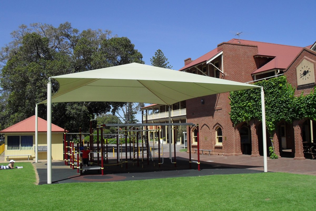Framed shade structure sails schools south australia