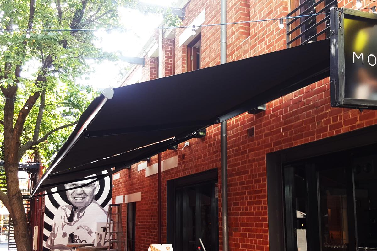 retractable motorised awning Mothervine Adelaide SA