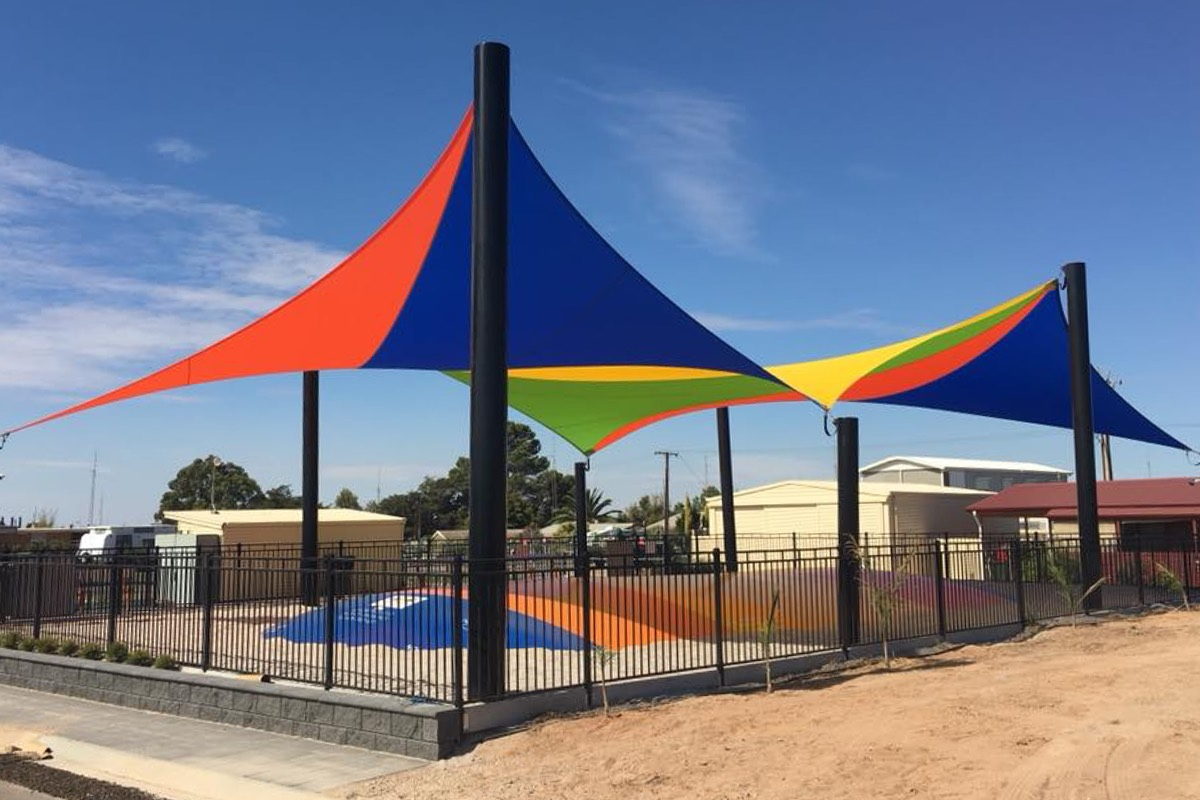 moonta bay caravan park yorke peninsula SA shade sails