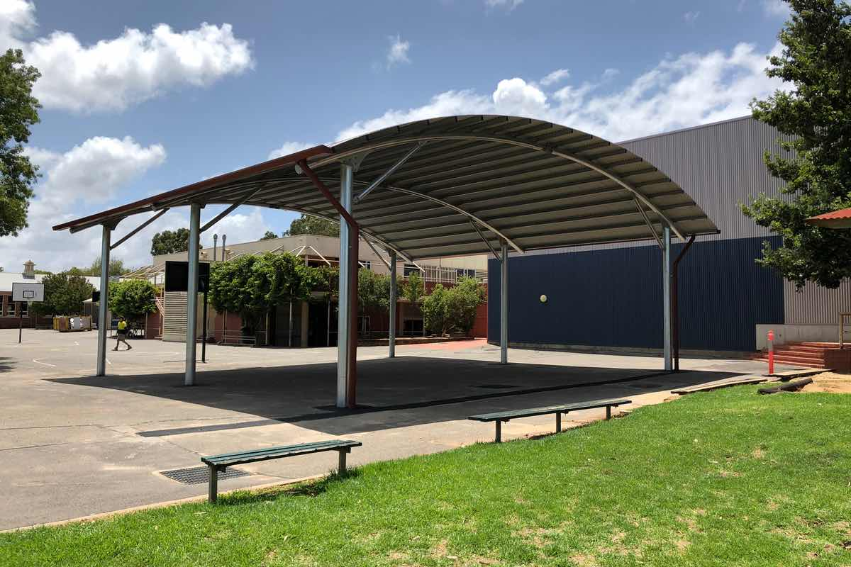 outdoor learning area built by Weathersafe Shades at Highgate Primary School South Australia