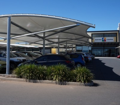 Car park shade structure shelter Seaford Central City of Onkaparinga SA 2