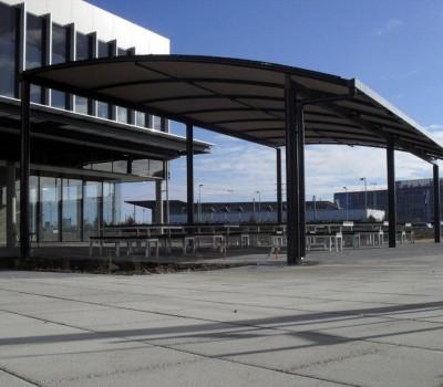 Custom shelter Techport offices Osborne City of Port Adelaide Enfield