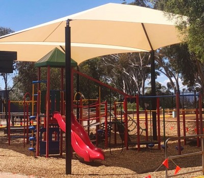 Frame shade sail structure school Port Augusta Eyre Peninsula SA 3