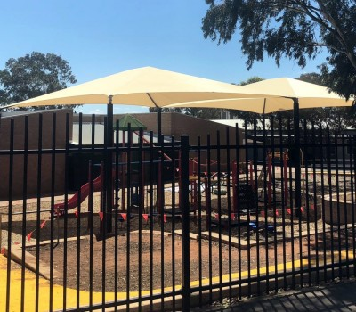 Frame shade sail structure school Port AugustaEyre Peninsula SA