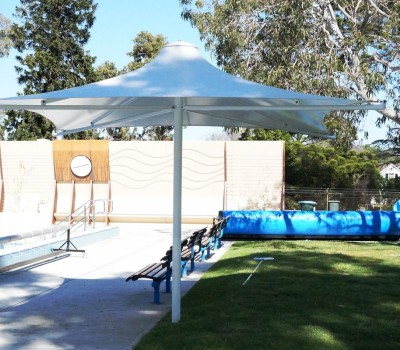 Permanent commercial umbrella swimming pool Adelaide SA