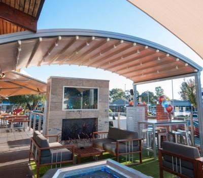 Retractable motorised roof Arkaba Hotel Fullarton City of Unley SA