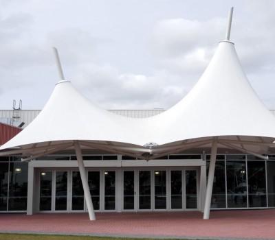 Custom shade membrane structure umbrellaJohn McVeity Centre YMCA Smithfield Plains SA City of Playford