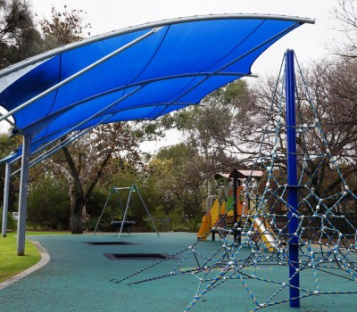 Cantilever shade structure Forestville reserve City of Unley