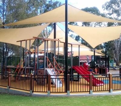 shade sails civic park Modbury city of Tea Tree Gully SA