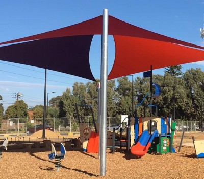 hero shade sail structure Roy Marten playspace reserve Playground Taperoo City of Port Adelaide Enfield SA