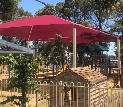 Frame shade sail structure Balaklava primary school Wakefield regional council  SA